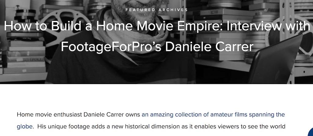 Articolo sul telecinema di Daniele Carrer apparso su un blog in lingua inglese