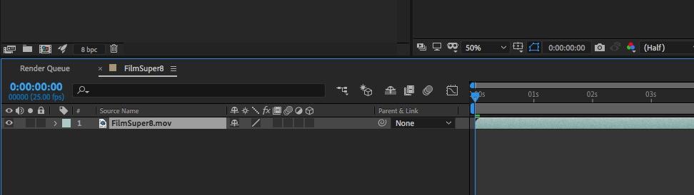 Schermata di Adobe After Effects