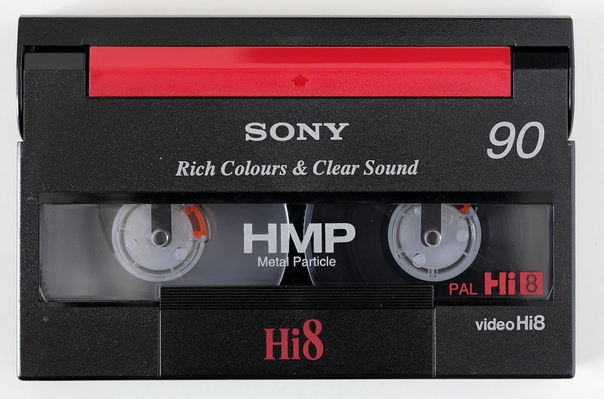 Cassetta Sony Hi8 da 90 minuti